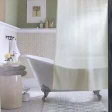 "Threshold Ivory Waffle Shower Curtain FABRIC 72""x 72"" NEW"