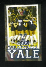Yale Bulldogs--2005 Volleyball Pocket Schedule--New Haven Register