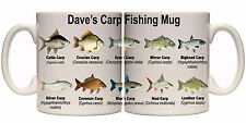 CARP SPECIES FISHING PERSONALISED MUG WITH NAME (SP11) OTHER GIFTS
