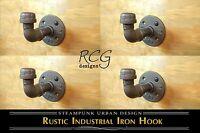 4-pack! Industrial Pipe Knob Hook A urban steampunk rustic decor