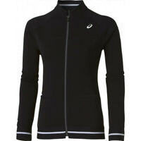 ASICS Womens Black Tennis Jacket Club Warm Up Performance Ladies Sports Top