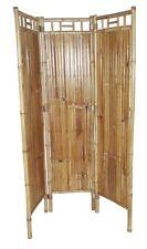 New Real Bamboo 3 Panel Screen Room Divider Zen Asian Tropical Decor