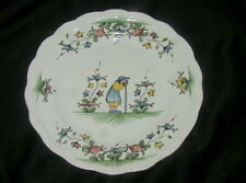VINTAGE FRENCH FAIENCE HAND PAINTED ART POTTERY PLATE, STYLE SAMADET, FARMER