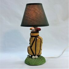 Vintage Golf Bag Ceramic Table Accent Lamp Night Light with Shade Working