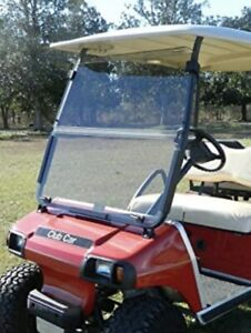 Folding Acrylic Clear Windshield for 2000.5 -UP Club Car DS Golf Cart