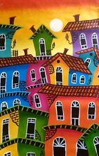 """Tableau art contemporain peinture acrylique toile 60 x105 cm signé """" BALLADE  """""""