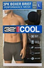 32 Degrees mens Boxer Quick Dry Briefs 3 Pack size XL