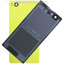 Yellow Back Cover Glass Battery Door for Sony Xperia Z1 Mini Compact D5503 M51W