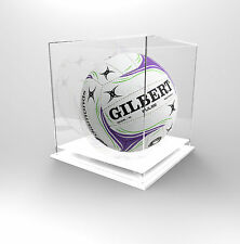 Netball Deluxe Display Case Acrylic Perspex  - Autographed Netballs - WHITE