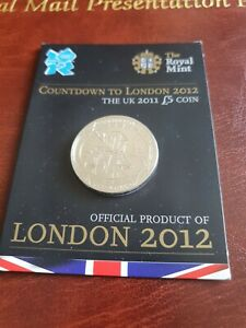 2011 Countdown To London 2012 Olympics, £5 Sealed Royal Mint Carded Coin