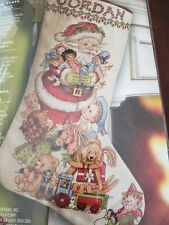 Bucilla Counted Cross Stitch Christmas Stocking Kit Gifts From Santa 86329 18 in