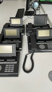 4 x Unify Siemens OpenStage 40 T (L30250-F600-C151)  / 1 x 60 T Lava IP-Telefone