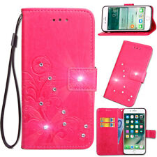 SD FourLeaf Bling-A Strap Leather Wallet Card Case Cover For Oppo Asus Leagoo M8