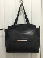 MIMCO REVEL WORKER BAG, BLACK W ROSE GOLD HARDWARE, GREAT USED CONDITION