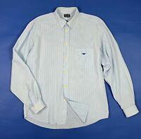 Emporio armani camicia uomo usato a righe blu M 39 shirt manica lunga T5773