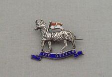 More details for world war i era silver & enamel sweetheart brooch the queen's royal regiment