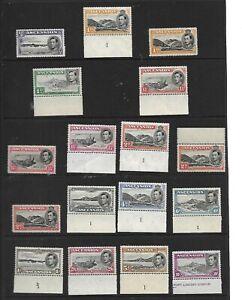 ASCENSION King George VI 1938- 53 Pictorial Set Perf Varieties SG 38 to 47b MNH