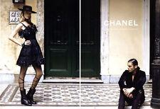 2010 Chanel Lagerfeld Freja Beha Erichson Claudia Schiffer 5-page MAGAZINE AD