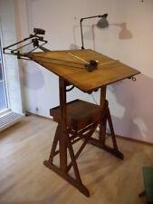 Antik Industrieal Design Architekten Zeichentisch Zeichenplatte drafting table