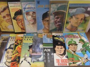 BASEBALL COMIC LOT SPORTS SUPERSTARS LEGENDS W/CARDS MANTLE RUTH WAGNER 1991 VF+
