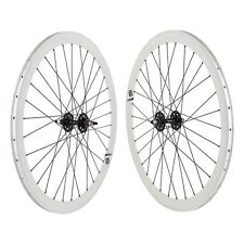 Origin8 White Track Bike Fixed Gear Aero Wheelset 42mm FX/FX 32h
