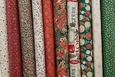 Christmas Wishes Fabric Pack remnants quilting patchwork bundles 100% cotton