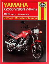 Haynes Manual 0821-Yamaha xz550 visión v-twins (82 - 85) workshop/service