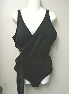 MIRACLE FORTUNE BATHING SUIT Look SLIMMER sz20w One Piece Retail $175