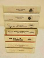 The Statler Brothers & The Mills Brothers Lot of 7 8 Track Tapes Country, Gospel