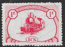 Belgian Congo stamps 1942 OBP CP18 Chemin de fer du BCK/LUBUDI VF