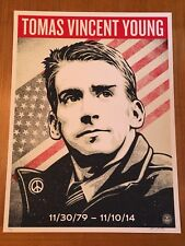 SHEPARD FAIREY THOMAS VINCENT YOUNG TRIBUTE SCREEN PRINT POSTER IRAQ OBEY GIANT!