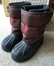 Ralph Lauren Polo Infant Jnr Snow Boots, Brown & Black, Size UK11~EU28