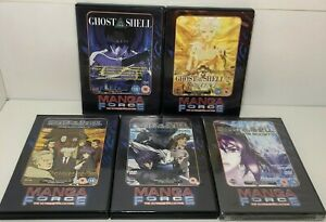 Ghost In The Shell and Stand Alone Complex bundle  manga region 2  DVD - Anime