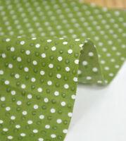 BY HALF YARD 2mm Polka dot Non slip Grips Cotton Blend Fabric Polycotton fCB125+