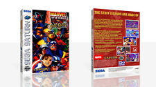 Marvel Super Heroes VS Street Fighter Saturn case + box Art Work Cover no game