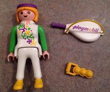 Playmobil Geobra Lady Tennis Figure with Tennis Racket + Balls Rare! 1992