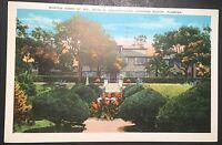 Home of John D.Rockefeller Ormond Beach Florida Vintage Postcard 1935 Linen D116
