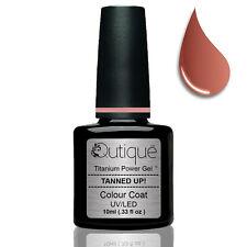 Gel Nail Polish Colour TANNED UP -Brown Nude Tan -Nail Wipes