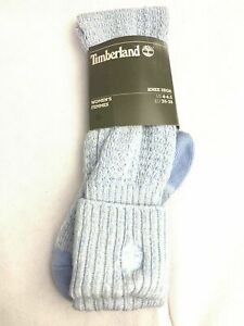 Timberland Light Blue 1 Pair Pack Women's Winter Knit Knee High Socks J0213-473