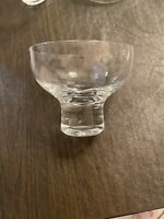 """5 Clear Thick Base Heavy Wine Glass Goblets 4"""" Tall x 4"""" Wide"""