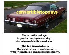 PONTIAC CONVERTIBLE TOP-DO IT YOURSELF PKG 1971-1976 CATALINA, BONNEVILLE, etc.