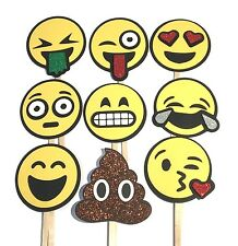 Photo Booth Props - Emoji Party Photo Booth Props x 9PC