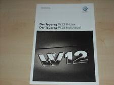 47650) VW Touareg W12 - technische Daten & Ausstattung - Prospekt 05/2008