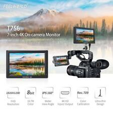 Feelworld T756 7 Inch IPS Full HD 4K On-Camera Monitor 1920 * 1200 V4D4