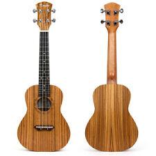 26 Inch Tenor Ukulele Ukelele 4 String Hawaii Guitar Zebrawood for Children Gift