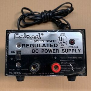 Calrad DC 12V 110V  Power Supply  12 V Volt 110 AC  USED