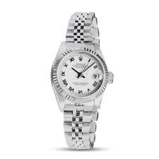 ROLEX - Ladies 18kt White Gold & SS DateJust White Roman Dial 79174 - SANT BLANC