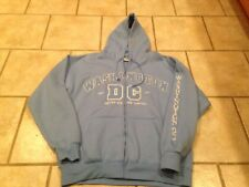 Washington DC Zip up Sweatshirt Hooded Embroidered Felt Letters Adult XL NWT