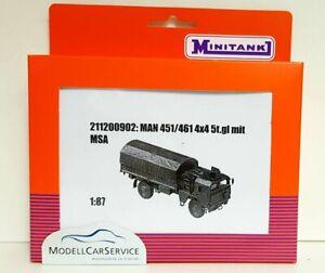 Minitank (H0): 211200902 Man 452/462 Truck 5t. Gl. 4x4 Flatbed/Plane With Msa