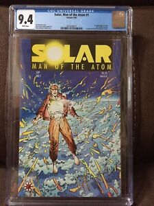 Solar, Man of the Atom #1 CGC 9.4 White pages Valiant 1st Solar